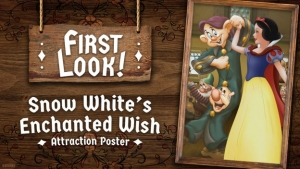 Eerste blik: Snow White's Enchanted Wish attractieposter in het Disneyland Park