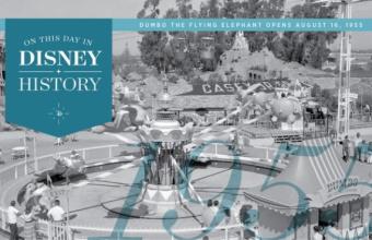 Vandaag in de Disney geschiedenis: Dumbo the Flying Elephant vliegt open in Disneyland Park, 1955