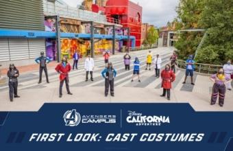 First Look: Avengers Campus Castmembers komen samen in nieuwe Castkostuums